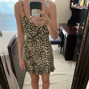 Motel leopard wrap dress